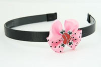 L.Pink / heart bone red-black light pink bow & sweet
