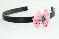 L.Pink / heart bone black-pink light pink bow & sweet