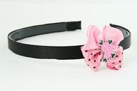 L.Pink / heart bone pink-black light pink bow & sweet