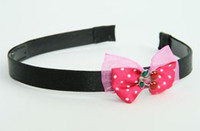 D Pink / cherry small dark pink bow & sweet