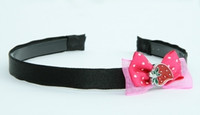 D-Pink / strawberry dark pink bow & sweet