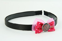 D.Pink / lolly red dark pink bow & sweet