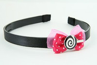 D.Pink / lolly white dark pink bow & sweet