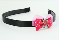 D.Pink / heart bone red-black dark pink bow & sweet
