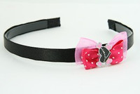D.Pink / heart bone black-pink dark pink bow & sweet