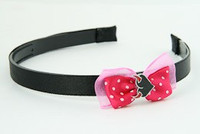 D.Pink / heart horn red dark pink bow & sweet