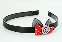 Black-Red / lolly pink red bow & sweet