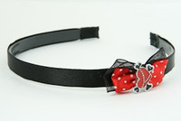 Black-Red / heart bone red-black red bow & sweet
