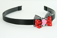 Black-Red / heart bone pink-black red bow & sweet