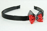 Black-Red / heart horn red Red bow & sweet
