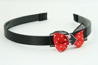 Black-Red / heart horn pink red bow & sweet