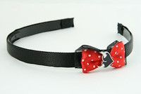Black-Red / heart horn white red bow & sweet