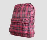 Scotch pink check rucksack