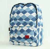 Check classic blue check rucksack