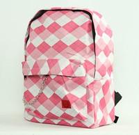 Check classic pink check rucksack