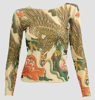 Front - T eagle transparent long sleeve top