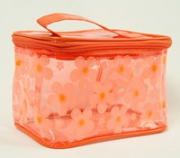 Flower orange toiletry bag