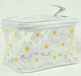 Flower white toiletry bag