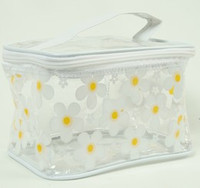 Flower white toiletry bag