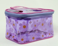 Flower purple toiletry bag