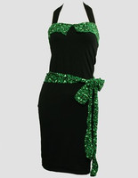 Front - DT leopard green belt pin up