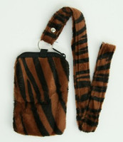 Zebra brown mobile bag