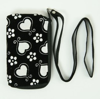 Heart flower white mobile bag