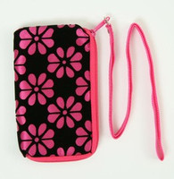 Flower D-pink mobile bag