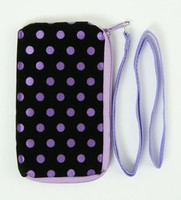 Dot purple mobile bag