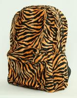 Zebra orange fluffy rucksack