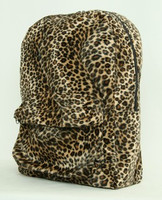 Leopard brown fluffy rucksack