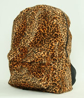 Leopard orange fluffy rucksack