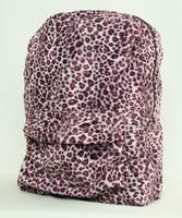 Leopard pink fluffy rucksack