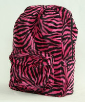 Zebra pink fluffy rucksack