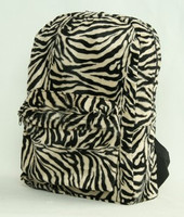 Zebra L-brown fluffy rucksack