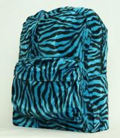 Zebra blue fluffy rucksack