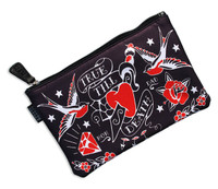 True till death black liquorbrand cosmetic bag