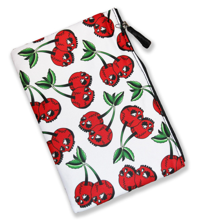 Cherry skulls liquorbrand cosmetic bag