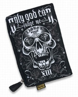 Only god skull liquorbrand cosmetic bag