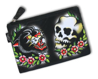 Panther skull liquorbrand cosmetic bag