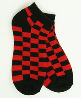 Check black-red socks accessory