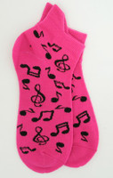 Music pink socks accessory