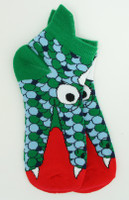 Monster green-blue socks accessory