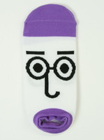 M glasses purple socks accessory
