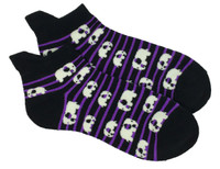 Elephant stripe purple socks accessory