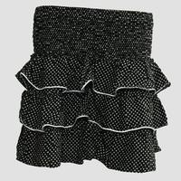 Mini skirt sailor dot black-white sailor mini skirt