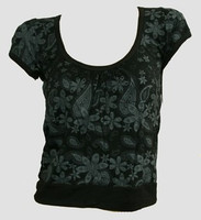 Front - OIB punk flower black-grey top diva top