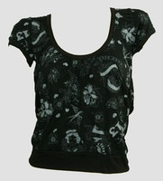 Front - OIB diva black-grey top diva top