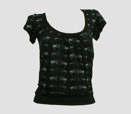 Front - OIB swallow black-grey top diva top
