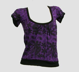 Front - OIB punk flower purple top diva top